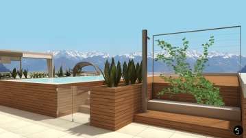 Ramina Giulia Designer Terrace penthouse