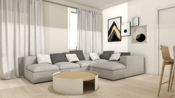 Living room by Ramina Giulia Designer
